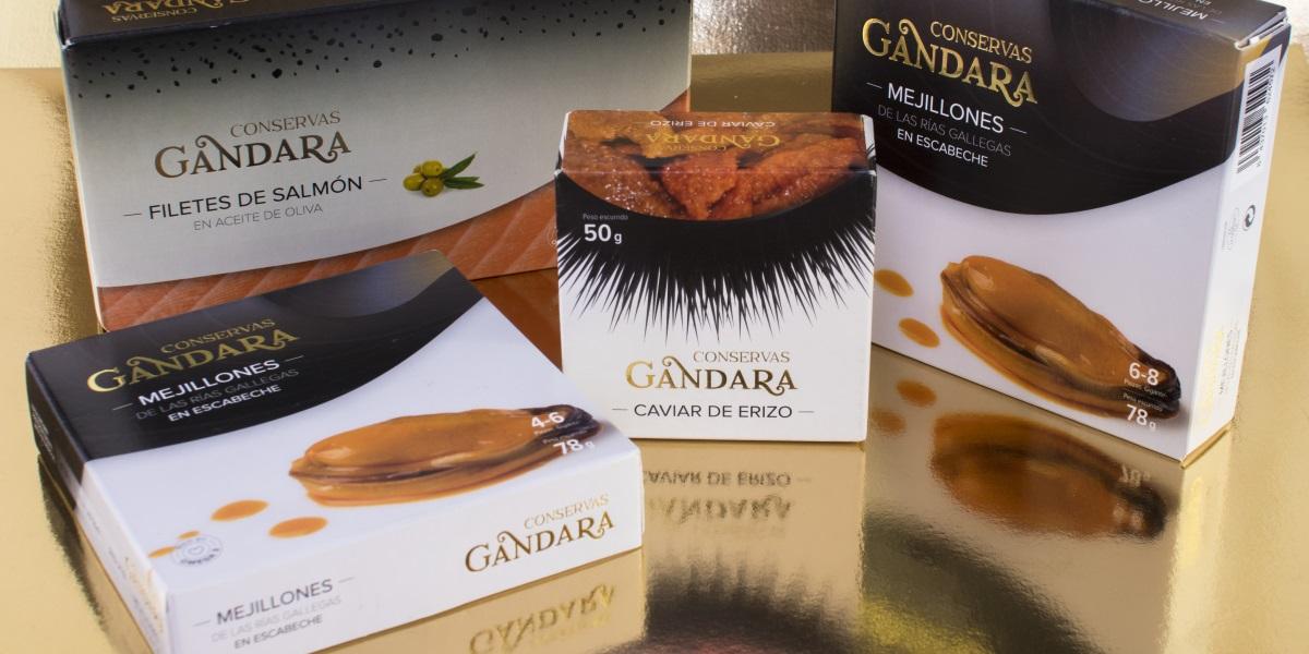 Bodegon de productos de conservas Gandara