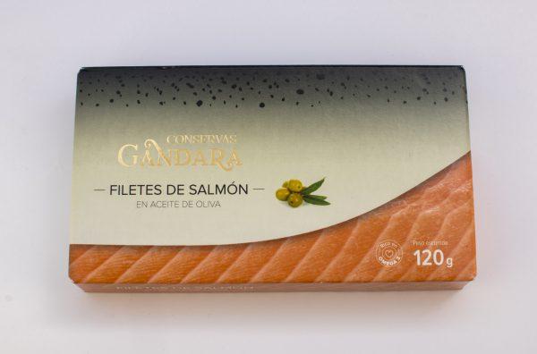 Filetes de salmon en aceite de oliva